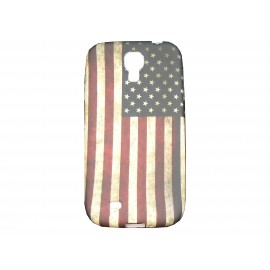 Coque silicone pour Samsung Galaxy S4 / I9500 USA/Etats-Unis vintage+ film protection écran offert
