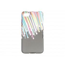 Coque silicone pour Blackberry Z10 étoiles filantes + film protection écran offert