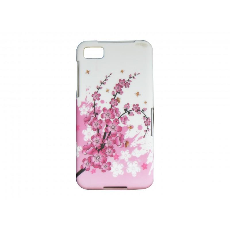 Coque silicone pour blakberry z10 petites fleurs roses for Photo ecran blackberry z10