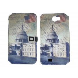 Pochette pour Samsung Galaxy Note 2 / N7100 simili-cuir Le Capitole  USA/ Etats-Unis + film protectin écran