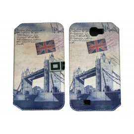 Pochette pour Samsung Galaxy Note 2 / N7100 simili-cuir Big ben Angleterre / UK + film protectin écran