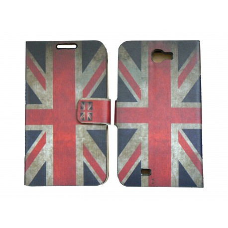 Pochette pour Samsung Galaxy Note 2 / N7100 simili-cuir drapeau vintage Angleterre / UK + film protectin écran