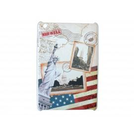 Coque pour Ipad Mini drapeau Etats-Unis/USA statue de la liberté + film protection écran offert