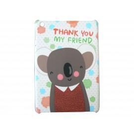 Coque pour Ipad Mini koala gris + film protection écran offert