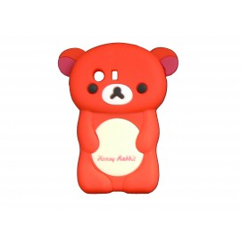 Coque silicone pour Samsung Galaxy Y/S5360 ourson rouge + film protection écran offert