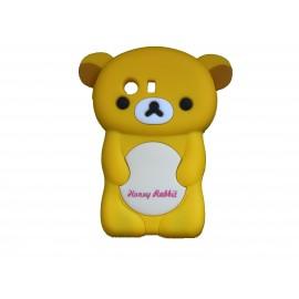 Coque silicone pour Samsung Galaxy Y/S5360 ourson jaune + film protection écran offert