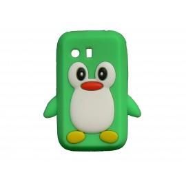Coque silicone pour Samsung Galaxy Y/S5360 pingouin vert + film protection écran offert