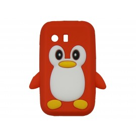 Coque silicone pour Samsung Galaxy Y/S5360 pingouin rouge + film protection écran offert
