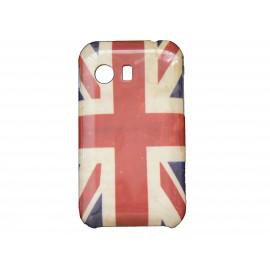 Coque pour Samsung Galaxy Y/S5360 drapeau Angleterre/UK vintage + film protection écran offert