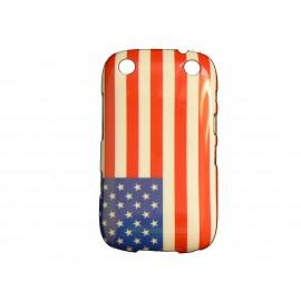 Coque pour Blackberry Curve 9320 drapeau USA/Etats-Unis + film protection écran offert