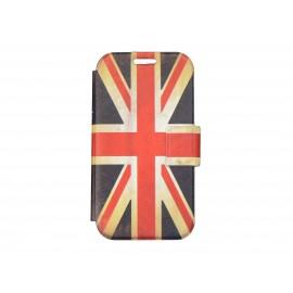 Pochette pour Samsung I9500 Galaxy S4 simili-cuir drapeau UK/Angleterre vintage + film protectin écran