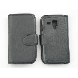 Etui portefeuille pour Samsung I8190/Galaxy S3 mini simili-cuir noire + film protectin écran