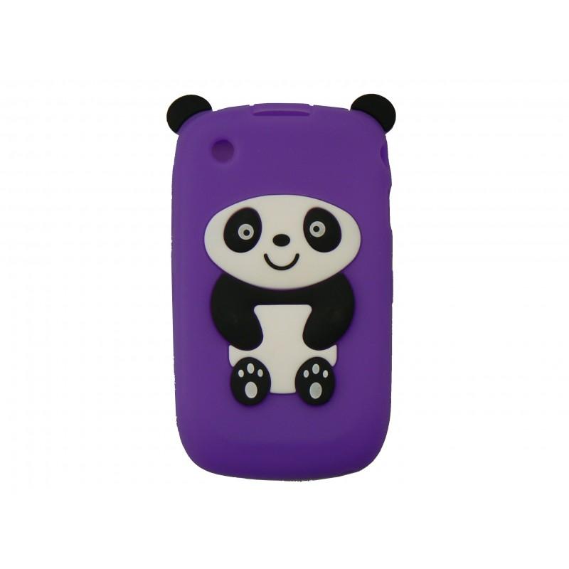 Coque silicone pour blackberry 8520 curve panda violet for Housse pour blackberry curve