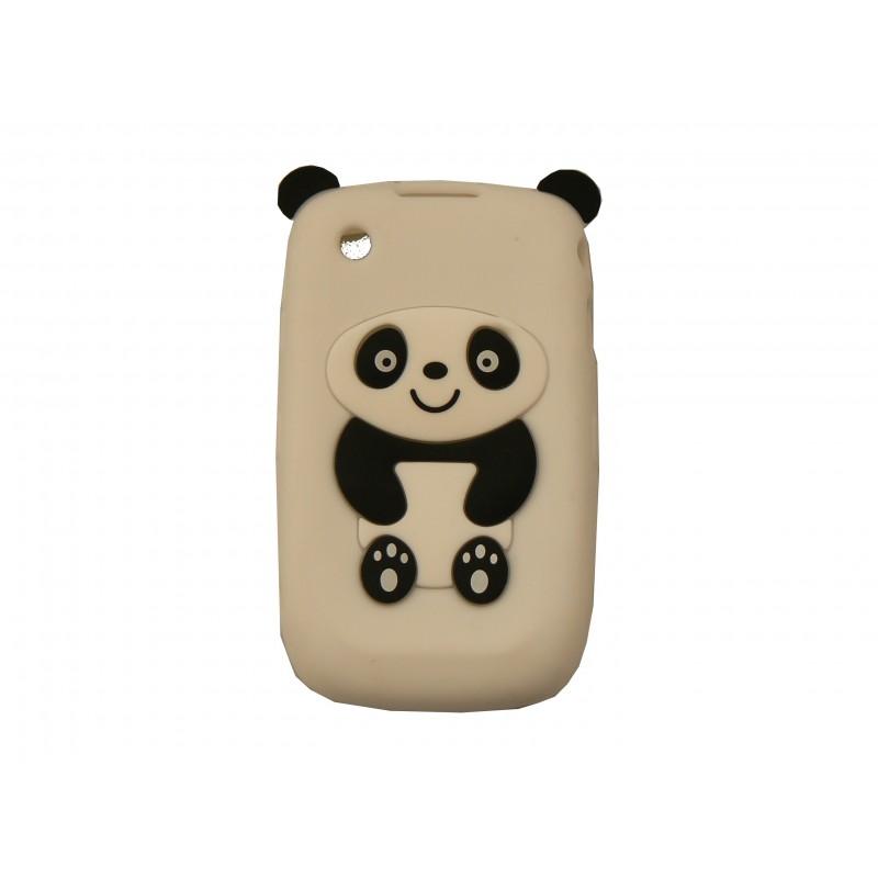 Coque silicone pour blackberry 8520 curve panda blanc for Housse pour blackberry curve
