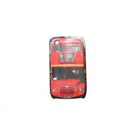 Coque pour Blackberry 8520 Curve Bus rouge Angleterre/UK + film protection écran offert