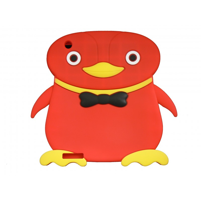 coque silicone ipad 2 3 nouvel ipad pingouin rouge. Black Bedroom Furniture Sets. Home Design Ideas