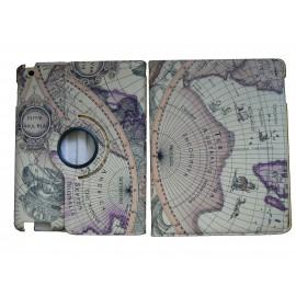 Pochette Ipad 2/3 mappemonde+ film protection écran