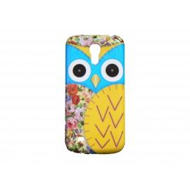 Coque pour Samsung Galaxy S4 Mini / I9190 hibou bleu + film protection écran offert