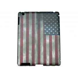 Pochette Ipad 2/3 nouvel Ipad drapeau USA/Etats-Unis vintage version 6 + film protection écran