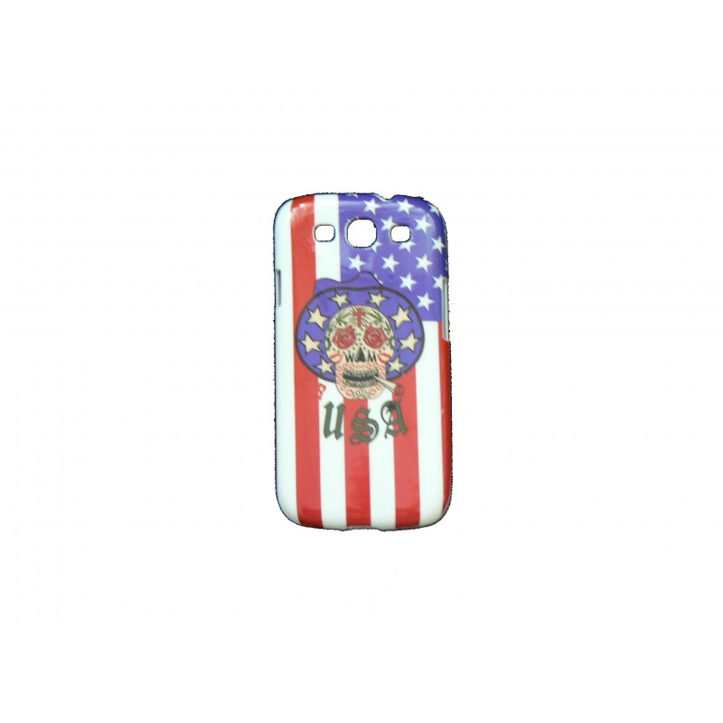 coque pour samsung galaxy s3 i9300 t te de mort drapeau. Black Bedroom Furniture Sets. Home Design Ideas