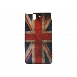 Coque silicone pour Sony Xperia Z drapeau UK/Angleterre vintage + film protection écran