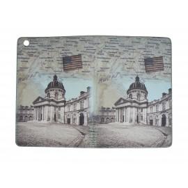 Pochette Ipad mini drapeau Etats-Unis et plan Paris+ film protection écran