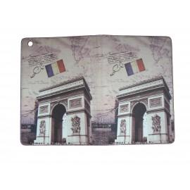 Pochette Ipad mini drapeau France Arc deTriumph+ film protection écran