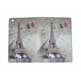 Pochette Ipad mini drapeau France Tour Eiffel+ film protection écran