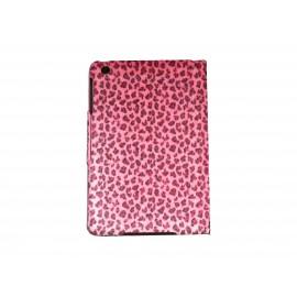 Pochette Ipad mini rose léopard rose + film protection écran
