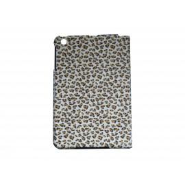 Pochette Ipad mini rose léopard beige + film protection écran