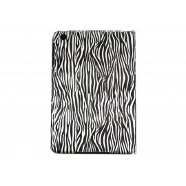 Pochette Ipad mini zèbre blanc noir + film protection écran