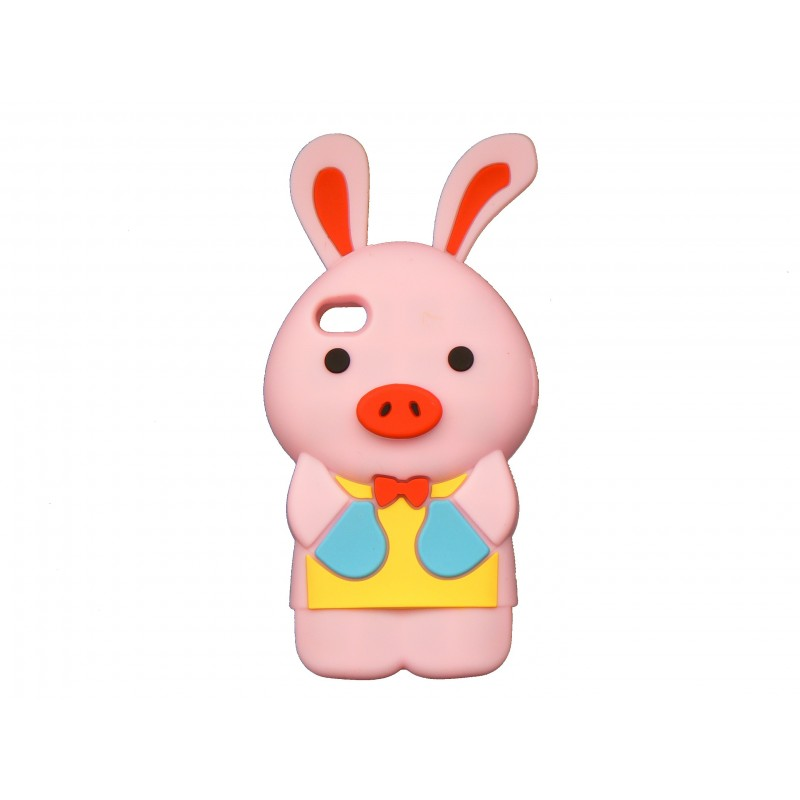 coque silicone pour iphone 4 lapin rose clair. Black Bedroom Furniture Sets. Home Design Ideas