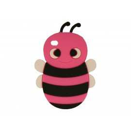 Coque silicone pour Ipod Touch 4 abeille rose fuschia + film protection écran