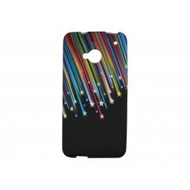 Coque silicone pour HTC One étoiles filantes + film protection écran
