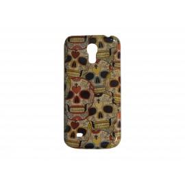 Coque pour Samsung Galaxy S4 Mini / I9190 têtes de mort multicolores + film protection écran offert