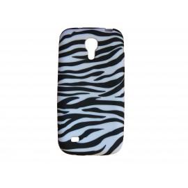 Coque silicone pour Samsung Galaxy S4 Mini / I9190 zèbre noir et blanc + film protection écran offert