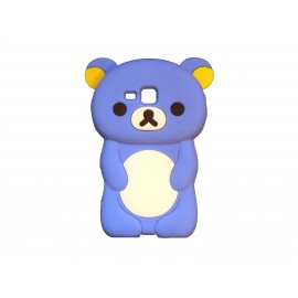 Coque silicone pour Samsung Galaxy Trend/S7560 ourson bleu+ film protection écran offert