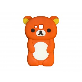 Coque silicone pour Samsung Galaxy Trend/S7560 ourson orange + film protection écran offert