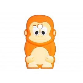 Coque silicone pour Samsung Galaxy Trend/S7560 singe orange + film protection écran offert