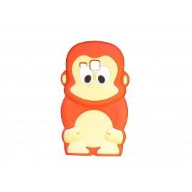 Coque silicone pour Samsung Galaxy Trend/S7560 singe rouge + film protection écran offert
