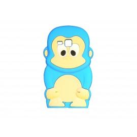 Coque silicone pour Samsung Galaxy Trend/S7560 singe bleu turquoise + film protection écran offert