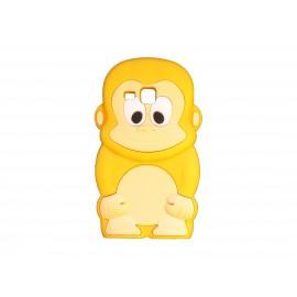 Coque silicone pour Samsung Galaxy Trend/S7560 singe jaune + film protection écran offert