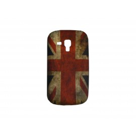 Coque silicone pour Samsung Galaxy Trend/S7560 UK/Angleterre vintage + film protection écran offert
