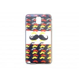 Coque pour Samsung Galaxy Note 3/N9000 moustaches multicolores + film protection écran offert
