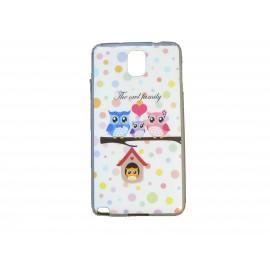 Coque pour Samsung Galaxy Note 3/N9000 famille hibou + film protection écran offert