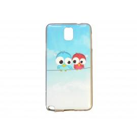 Coque pour Samsung Galaxy Note 3/N9000 oiseaux amoureux + film protection écran offert