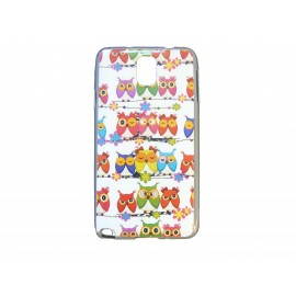 Coque pour Samsung Galaxy Note 3/N9000 chouettes multicolores version 2 + film protection écran offert