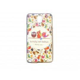 Coque pour Samsung Galaxy Note 3/N9000 famille hibou version 2+ film protection écran offert