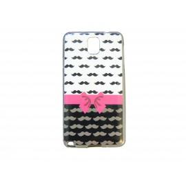 Coque pour Samsung Galaxy Note 3/N9000 moustaches noires+ film protection écran offert