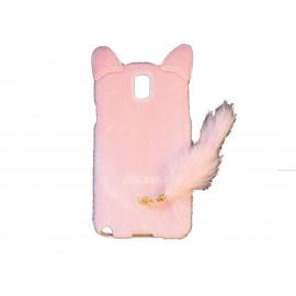 Coque pour Samsung Galaxy Note 3/N9000 oreilles de chat rose clair+ film protection écran offert